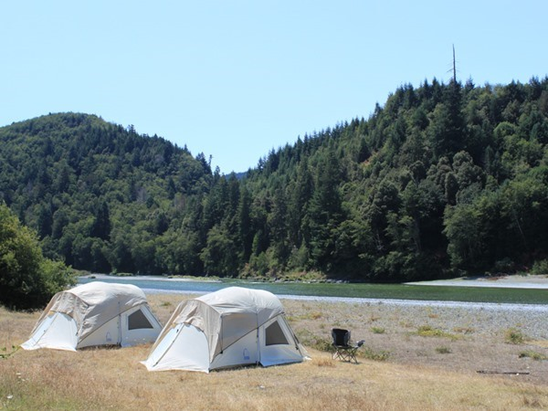 The view of the river from camp