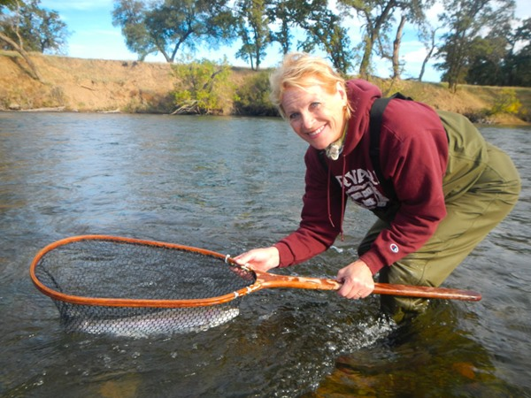 Sherrie swung up this steelie on a 4wt spey rod.