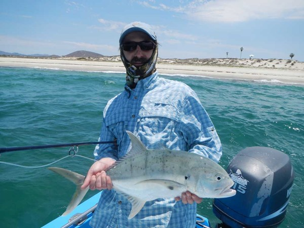 Mark with a jack crevalle