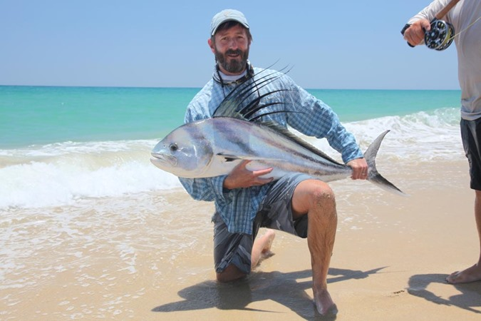 Mark Tompkins with a big roosterfish