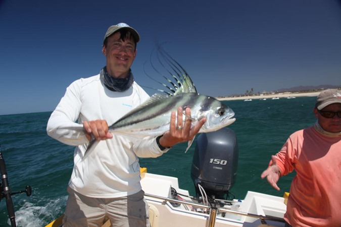 Andrew Harris with his first ever roosterfish
