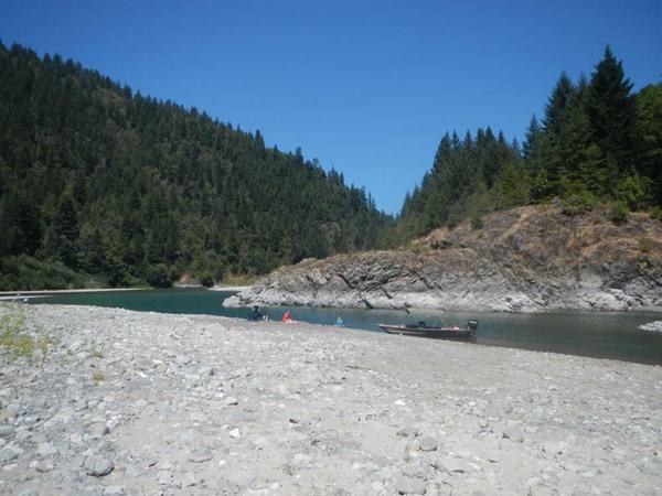 Picnic at the Blue Creek lagoon
