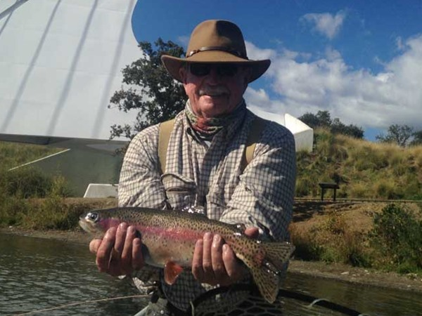 Jack hooked this one just above the Sundial Bridge