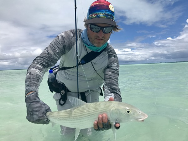 Jon with a larger bonefish