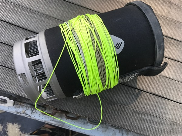 Jet Boil makes a great fly line spool!