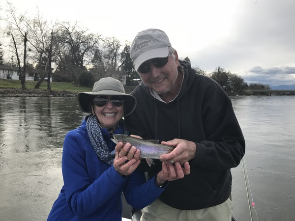 They were doubled-up and landed both fish, but Lee dropped hers