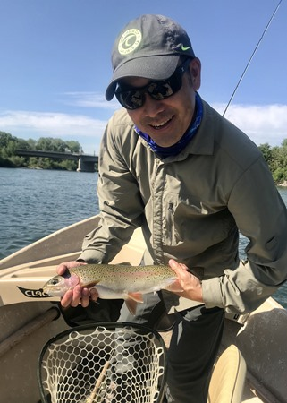 Randal with his first Sac river rainbow!