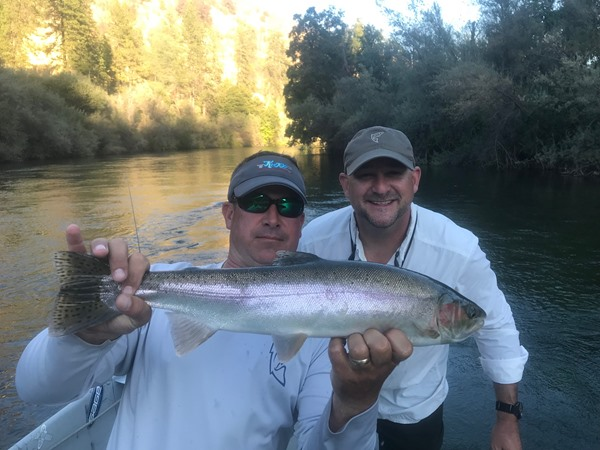 Brian and Mike with the biggest steelhead of the day
