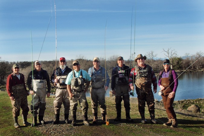 Group of anglers at Eagle Canyon