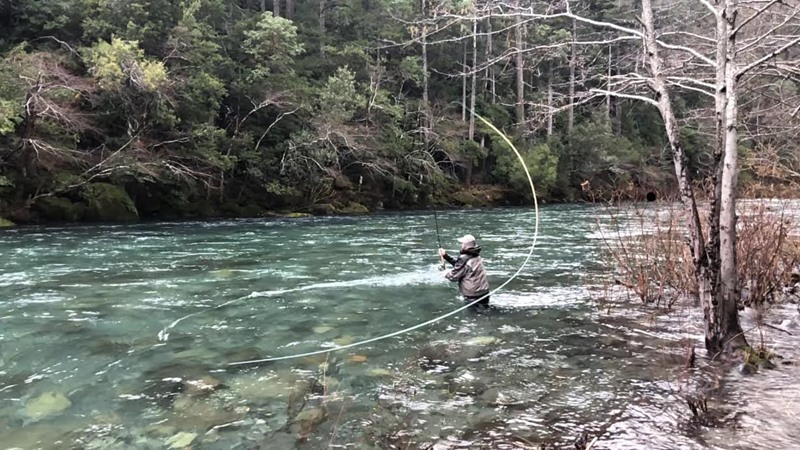 Kris loaded up on a picture perfect day in steelhead country