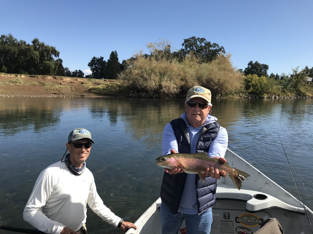 Steve landed this fish on a dry fly!