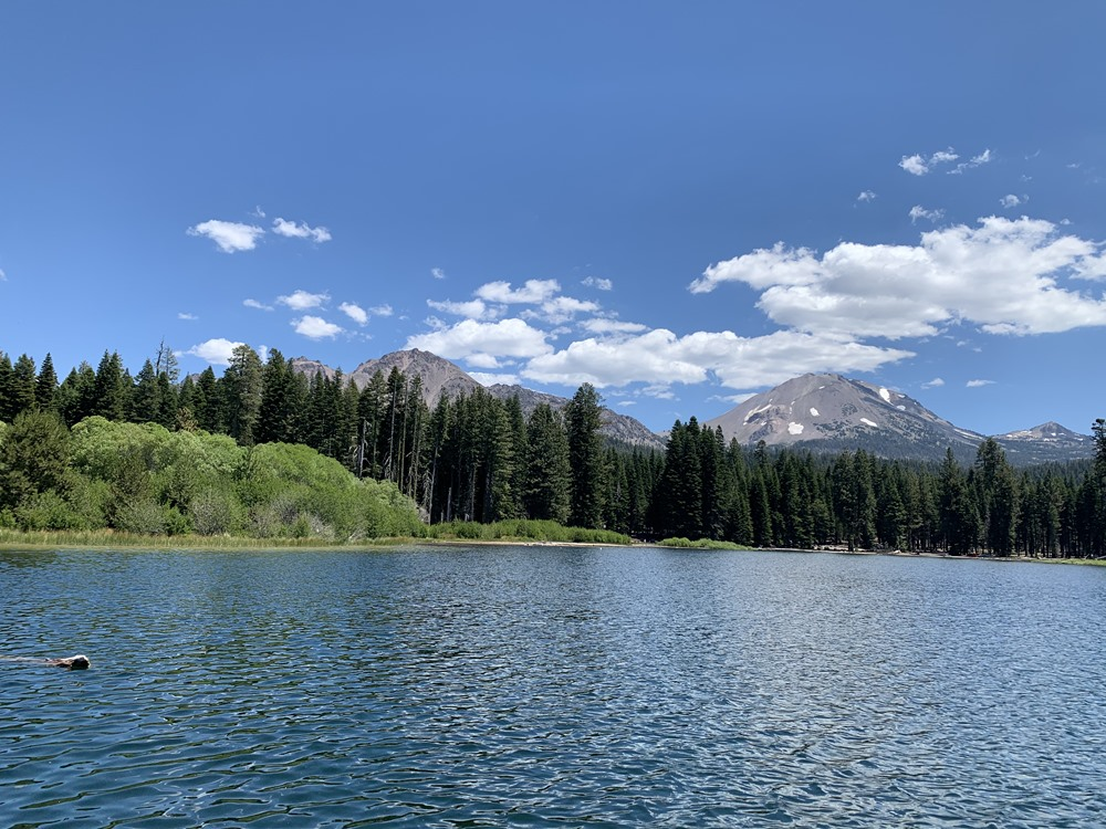 Epic view of Mt. Lassen from Manzanita Lake