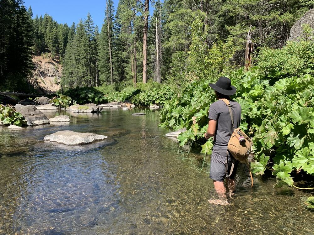 Daniel casting to rising fish