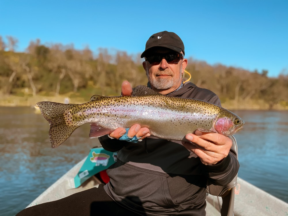Bill with a nice chrome 20 inch trout pig!