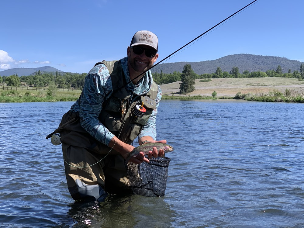 Jeff with a decent Hat Creek fish