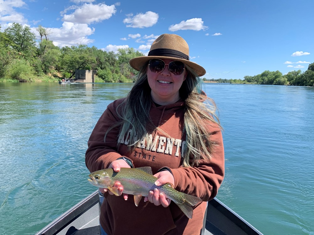 Tara with her largest trout ever!