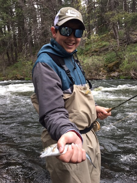 First fish on a fly rod for Gav!!!