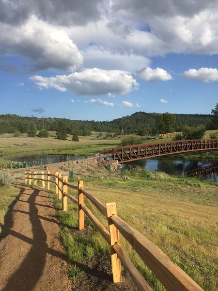 The new access trail allows for anglers to access all of the river.
