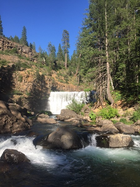 The beautiful Middle Falls of the Upper McCloud.