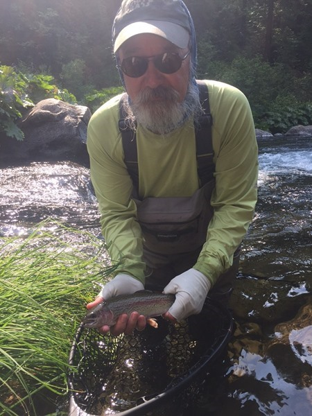 One of Len's rewards for throwing dry flies.