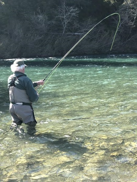 Bob with a nice bend in his rod