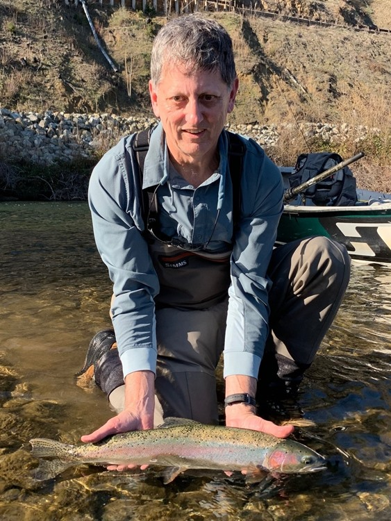 Chuck with one of several steelhead today