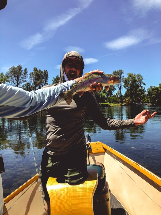 One from Kevin's boat. These trout are feisty!