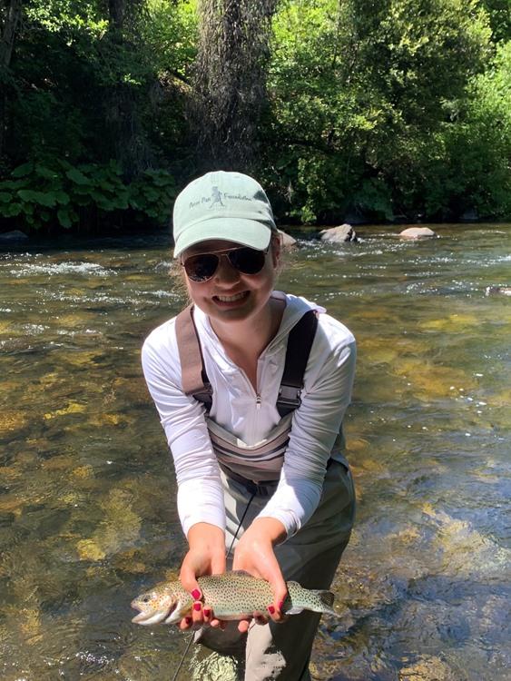 Stephanie with a really nice fish