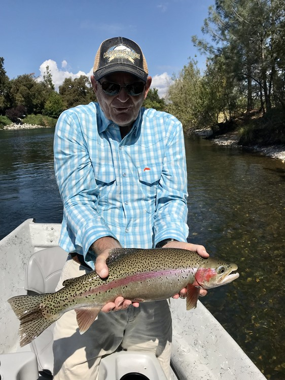 Larry with a trout pig.