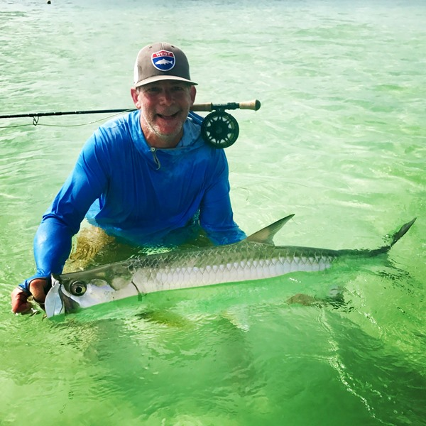 Doug with the elusive Fall River Tarpon